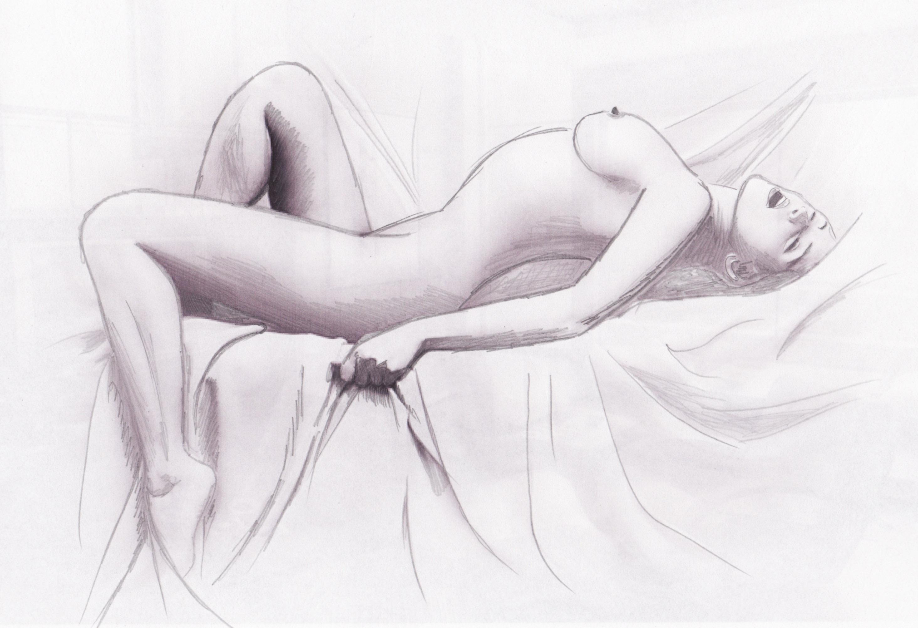 нарисованные секс женщины карандашом